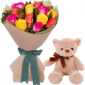 buy birthday bear with flowers in cebu