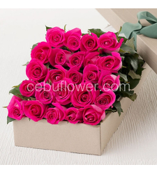 send 24 pink roses in box to cebu to philippines