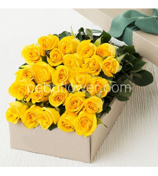 send 24 yellow roses in box to cecu in philippines