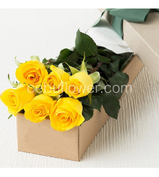 send 6 yellow roses in box to cebu in philippines