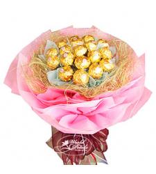 Ferrero Pink  Bouquet  Online Order to Cebu Philippines