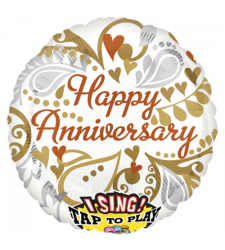 happy anniversary mylar balloon 1pc. to cebu