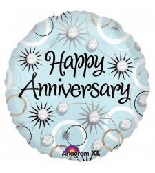 1pc. colorful anniversary mylar balloon to cebu