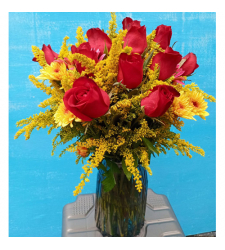 send 12 fresh red roses in glass vase to cebu