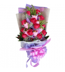send 5 pcs. ferrero with 12 pcs. roses bouquet to cebu