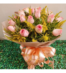 send 24 stems pink color roses in bouquet to cebu