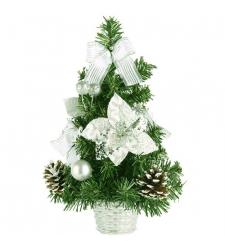 send 30cm silver color mini christmas tree to cebu