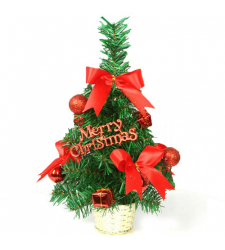 send 30cm red mini decorated christmas tree to cebu