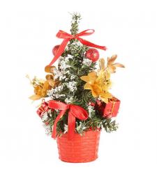 send 1 feet red christmas mini-tree to cebu