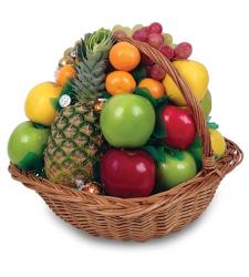 Flower Fruit Basket Online Order to Cebu