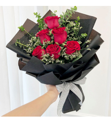 send 6 pcs. fresh red roses in bouquet to cebu