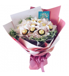 16 Ferrero Rocher Chocolate in Bouquet