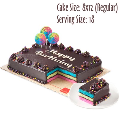 send 8x12 (regular) rainbow dedication cake by red ribbon to cebu