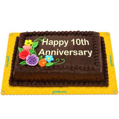 Anniversary Choco Chiffon Cake by Goldilocks
