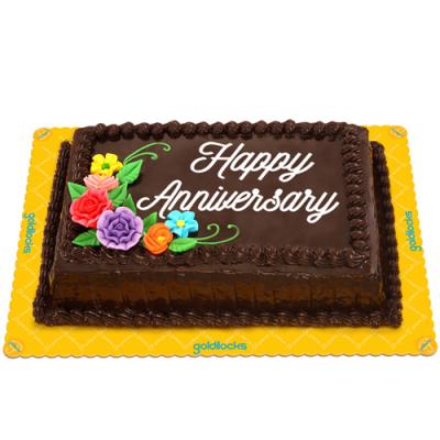 Choco Chiffon Anniversary Cake by Goldilocks