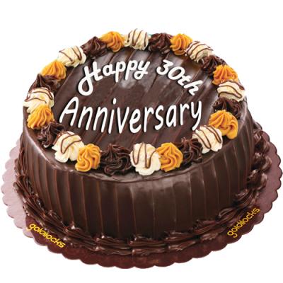 Anniversary Choco Caramel Cake By Goldilocks