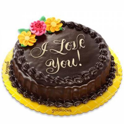 Anniversary Chocolate Chiffon Cake By Goldilocks